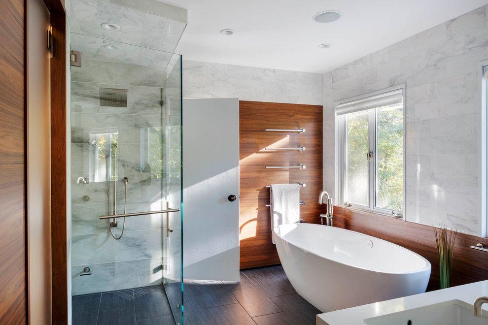Elegant Coral Bath Towels vogue Boston Contemporary Bathroom