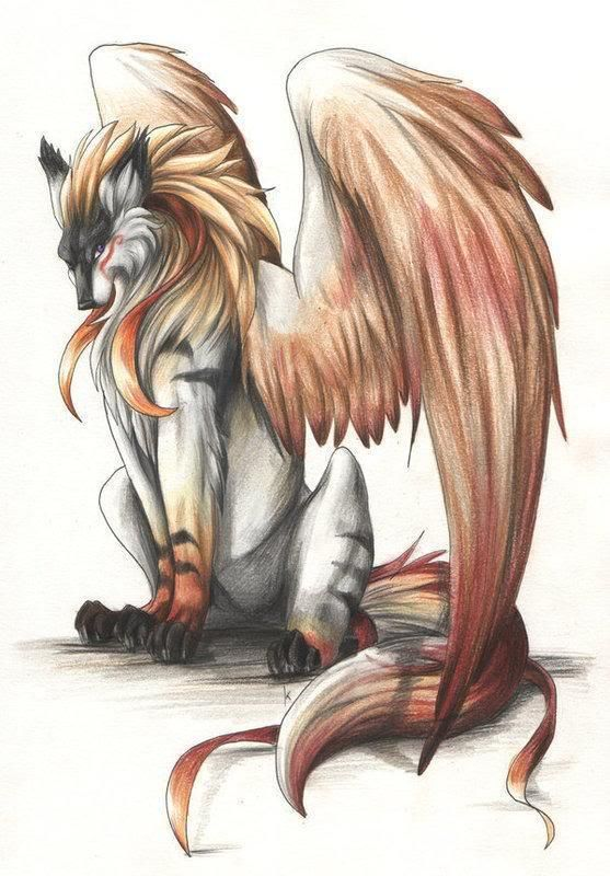 Demon Wolf With Wings : demon, wings, Anime, Demon, Fantasy, Wolf,, Creatures,, Creature