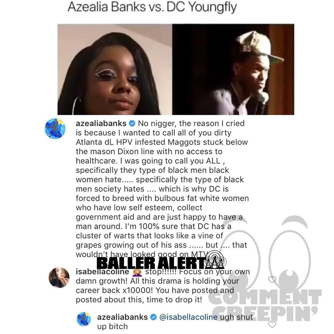 Azealia Banks Responds To Comedian Dc Young Fly For Making Fun Of Her During Her Appearance On Wild N Out A Few Azealia Banks Cool Things To Make Comedians