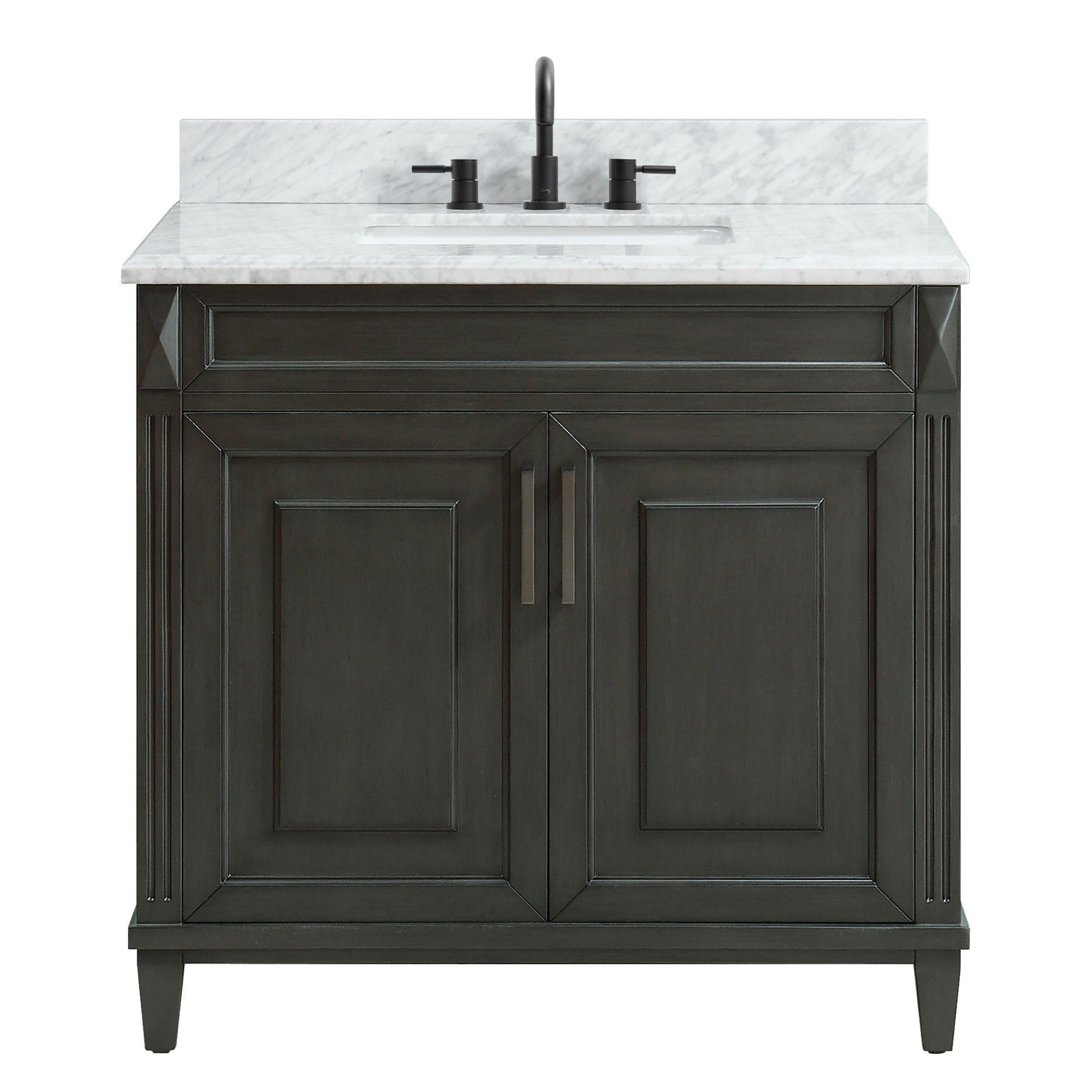 Sterling 37 In Vanity With Carrara Marble Top Vanity Marble Top Carrara Marble