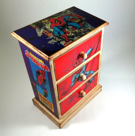 Jewelry Box Spiderman Marvel Comics Comic Book Chest by poelia