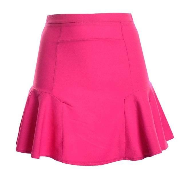 NEW £45 PER UNA SKIRT FLUTED FISHTAIL RED CHIFFON PARTY XMAS OCCASION SZ 10-22