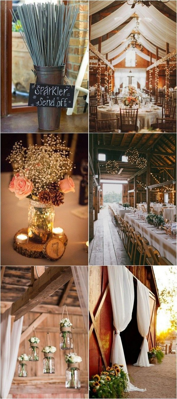 Wedding decorations country  country rustic barn themed wedding decoration ideas countrywedding
