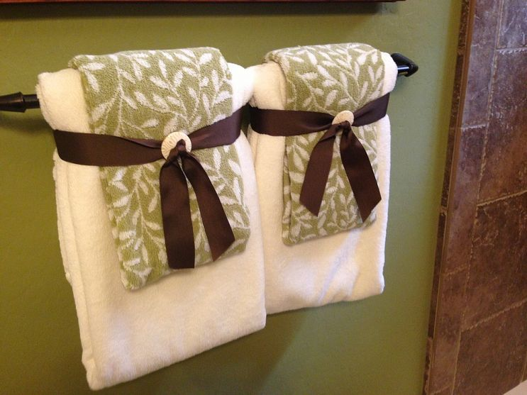 Best Decorative Towels Images On Pinterest Bathroom Ideas - Decorative bath towel sets for small bathroom ideas
