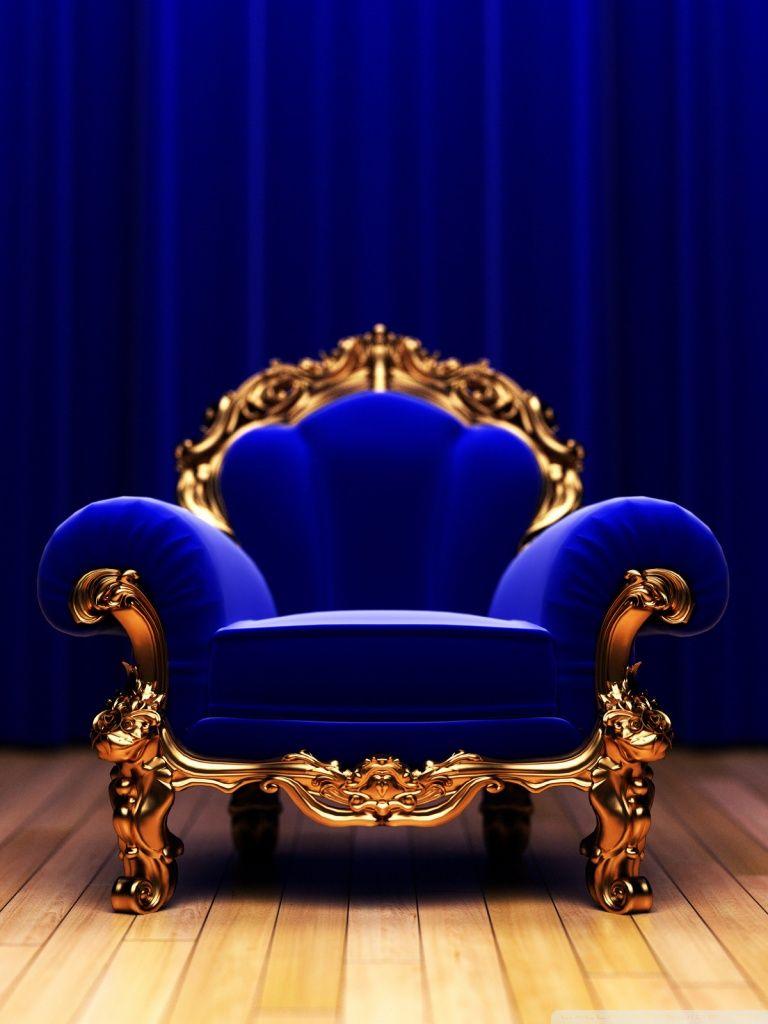 elegant royal blue chair