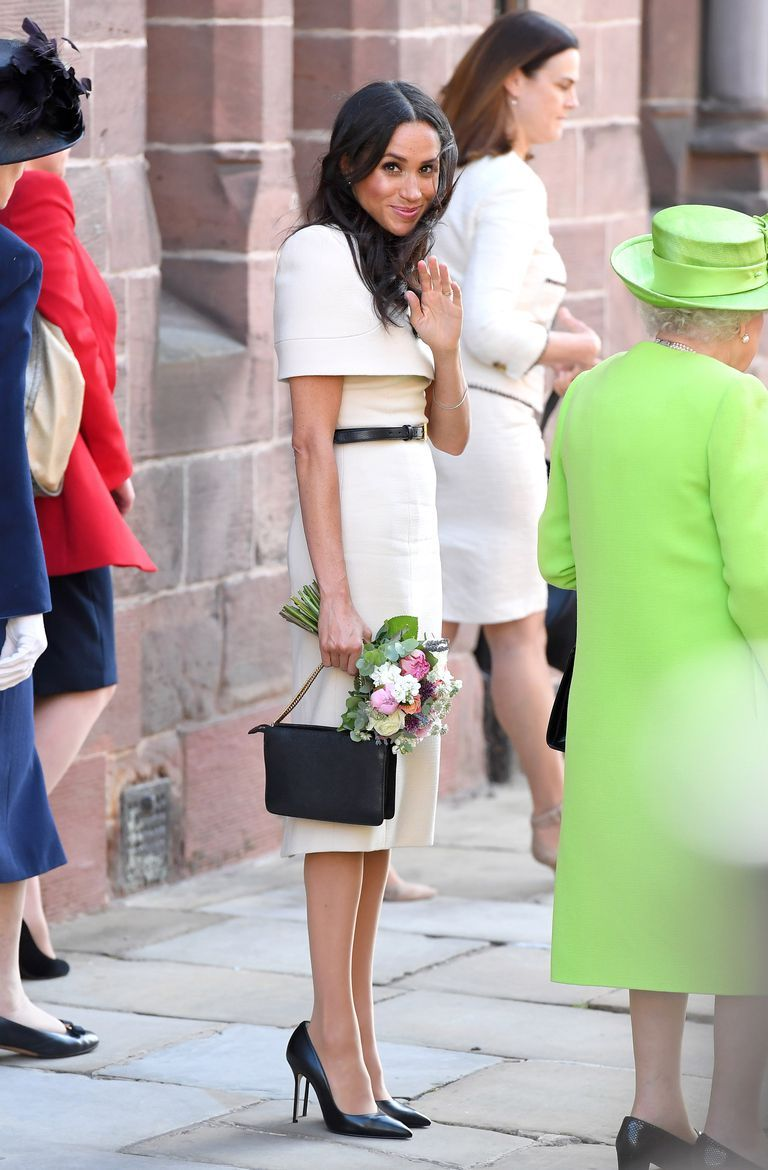 44cff8d2693 Here s Why Meghan Markle Always Wears Shoes That Are Too Big for Her