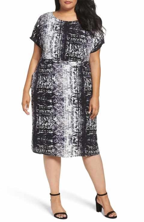 Sejour Dolman Sleeve Shift Dress Plus Size Fat Shion Pinterest