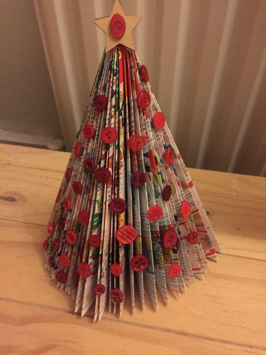 Paper book folded christmas tree christmas craft ideas pinterest