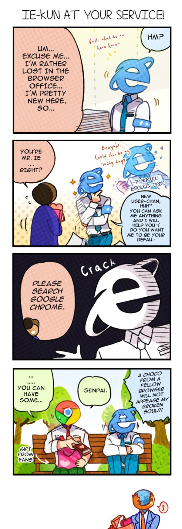 Ie Kun S Valentine Internet Explorer Cute Comics Funny Comics Cartoon As Anime