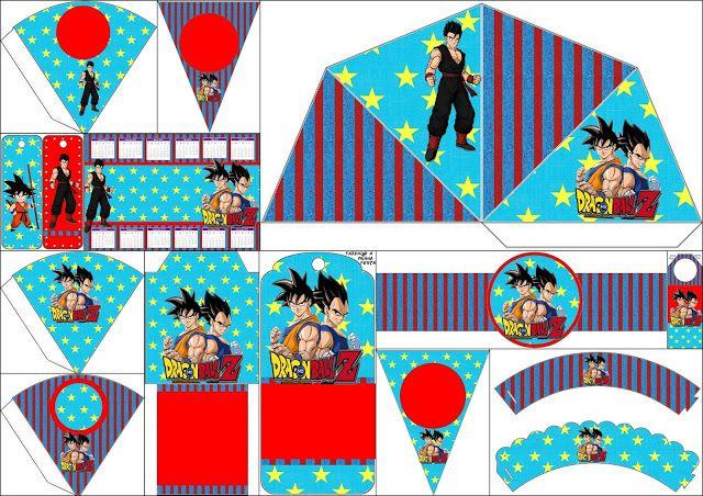 Dragon Ball Z Free Party Printables edwin Pinterest Dragon