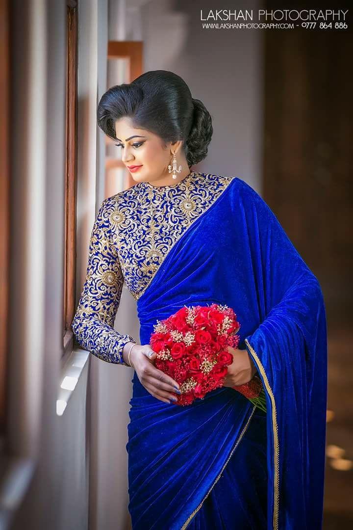 Salon Cattleya Sri Lanka Engagement Saree Saree Designs Sari Blouse Designs