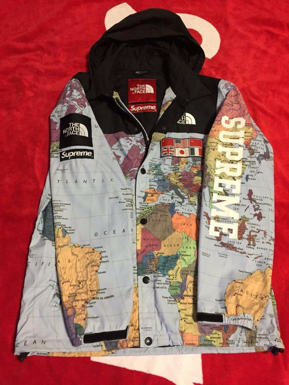 Supreme X The North Face Map Men Jacket Coat Very Rare Authentic Coats Jackets Fashion Outfits Mens Jackets [ 1280 x 960 Pixel ]