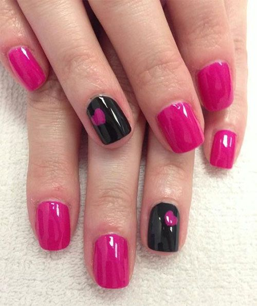 15+ Black \u0026 Pink Gel Nail Art Designs \u0026 Ideas 2016
