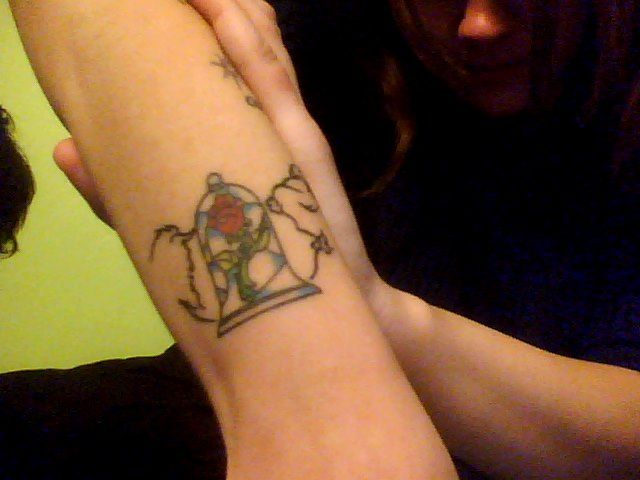 beauty and the beast stained glass rose tattoo - Google ...