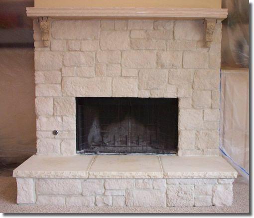Stone veneer fireplace natural 1 minus flagstone veneer for Austin stone fireplace