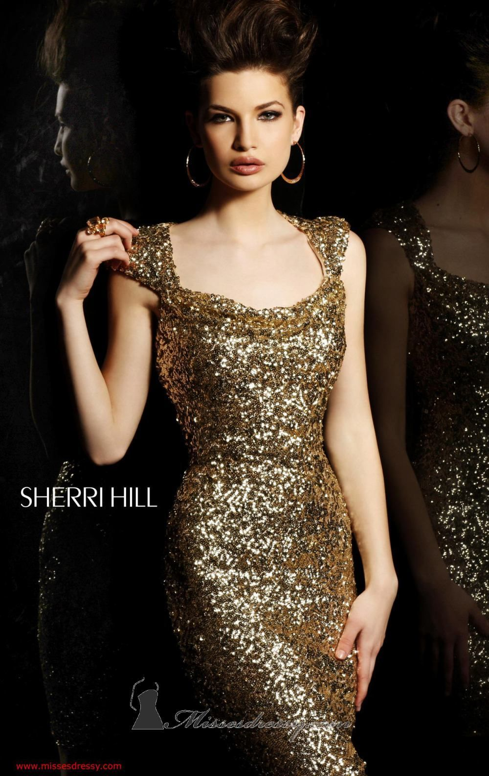 Gold sequined evening gown themes sparkle sparkle pinterest