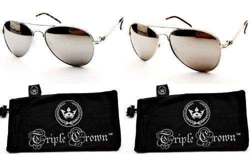 f45c82e7c Bundle-2 Item T01 Triple Crown Mirrored Aviator... Find this Pin and more  on Women's Sunglasses by Sing EyeWear.