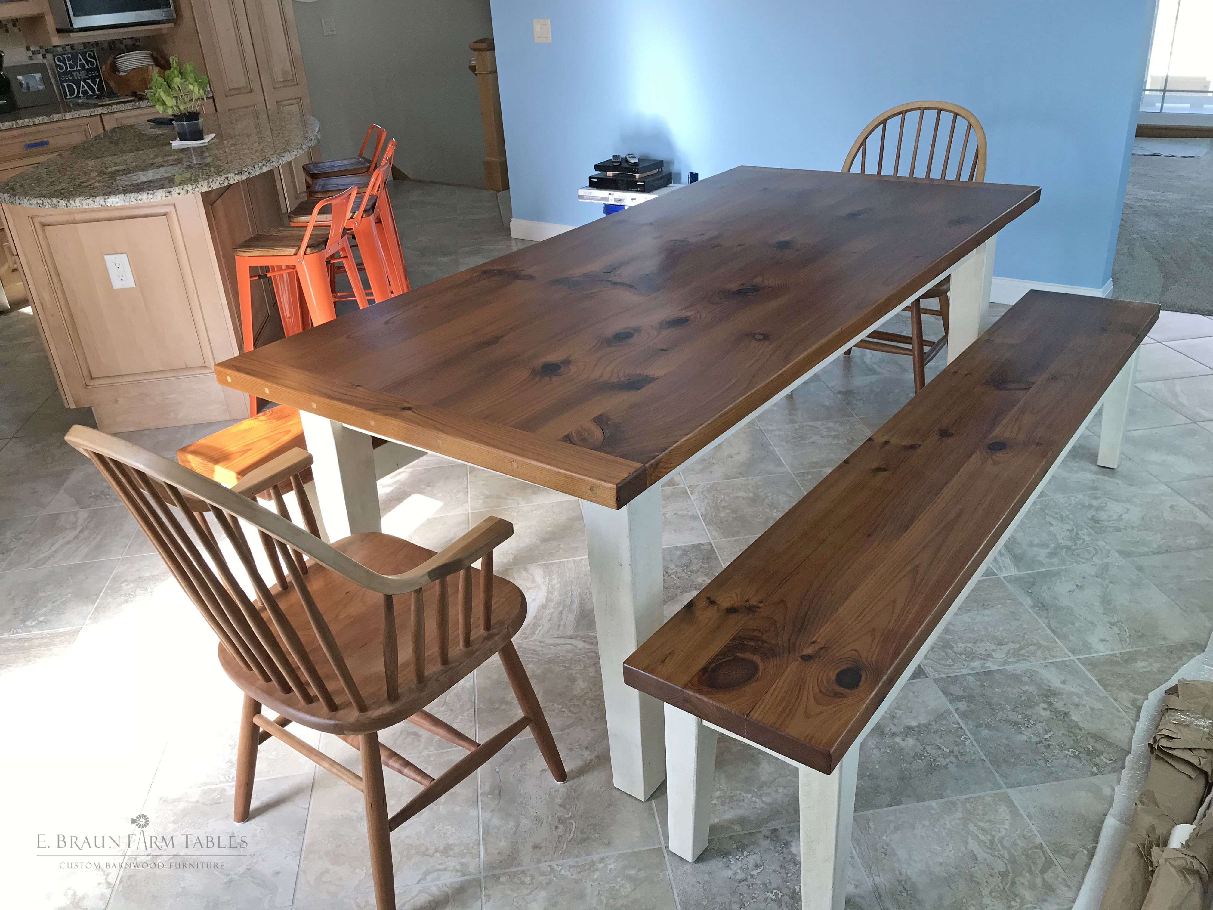 Pleasant This 7L Reclaimed White Pine Barn Wood Farmhouse Table And Ibusinesslaw Wood Chair Design Ideas Ibusinesslaworg