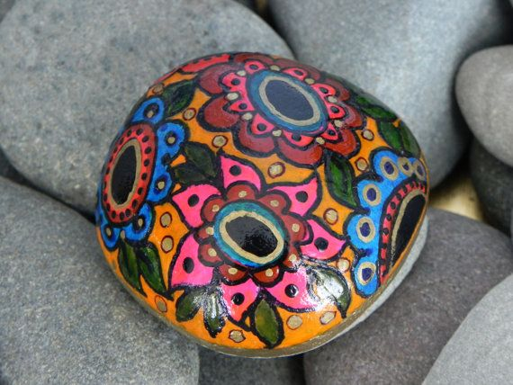 painted rock garden | Moroccan Garden / Painted Rock / Sandi PIke Foundas / Cape Cod
