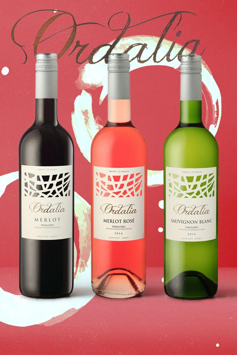 Gamme De Vin Ordelia De Couleurs D Aquitaine Bouteille De Vin Vin Couleur