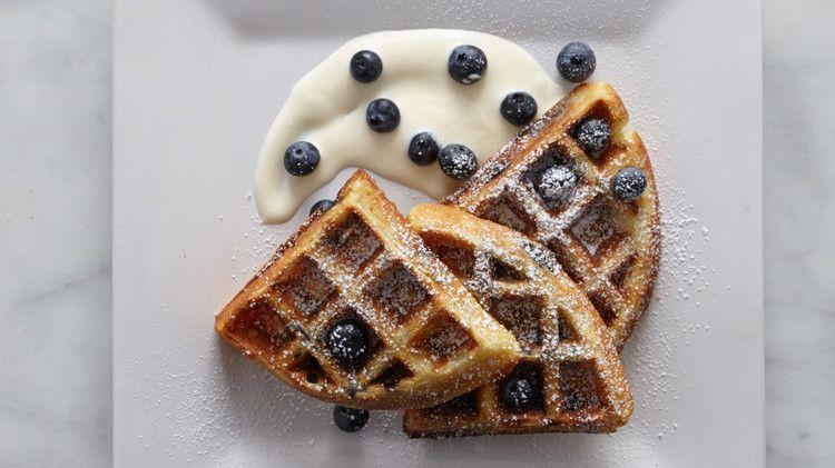 Blueberry Buttermilk Waffles Recipe Buttermilk Waffles Blueberry Waffles Waffle Recipes