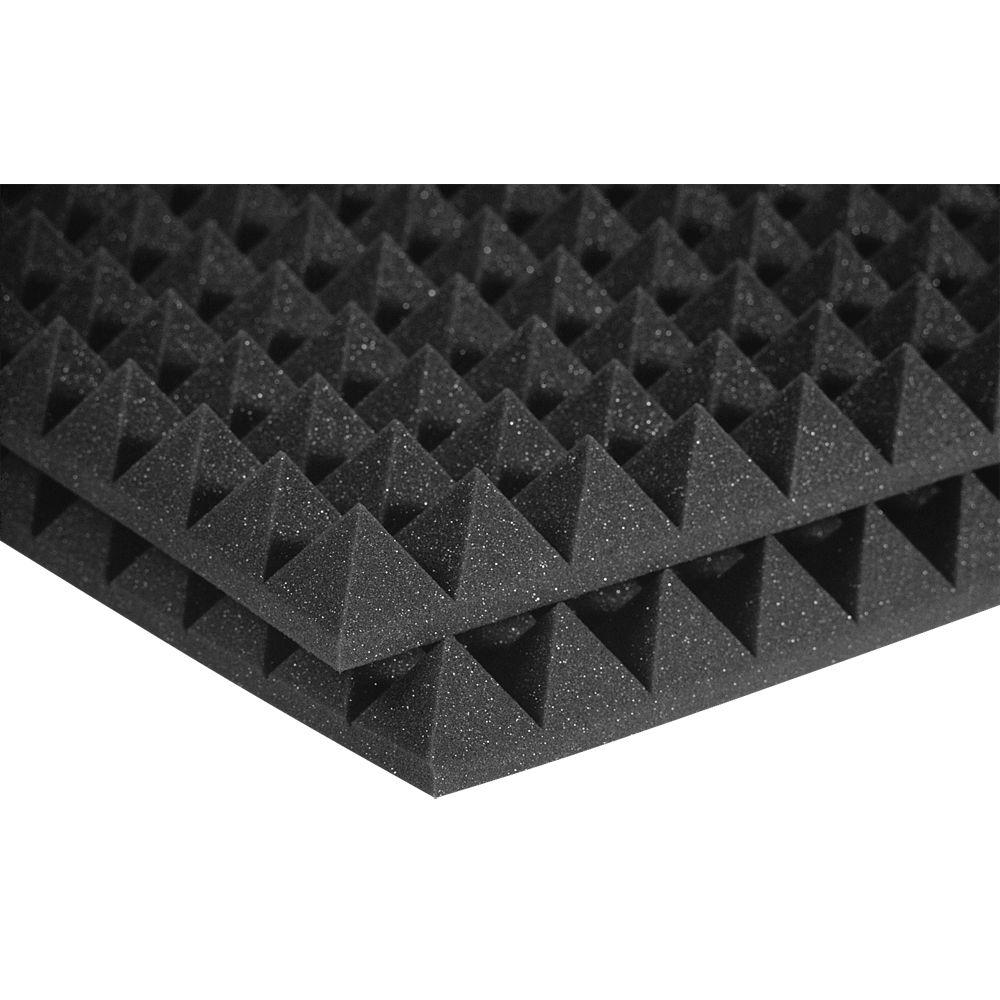 Auralex Auralex Studiofoam Pyramid Panels 2 Ft W X 2 Ft L X 2 In H Charcoal Half Pack 12 Panels Per Box 2pyr22cha Hp The Home Depot Foam Panels Studio Foam Acoustic Panels