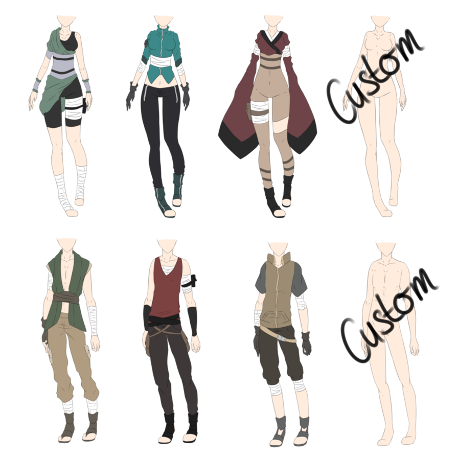I was in the mood to create some Naruto Outfits \u0026 yeah QAQ I just hope that someone will like