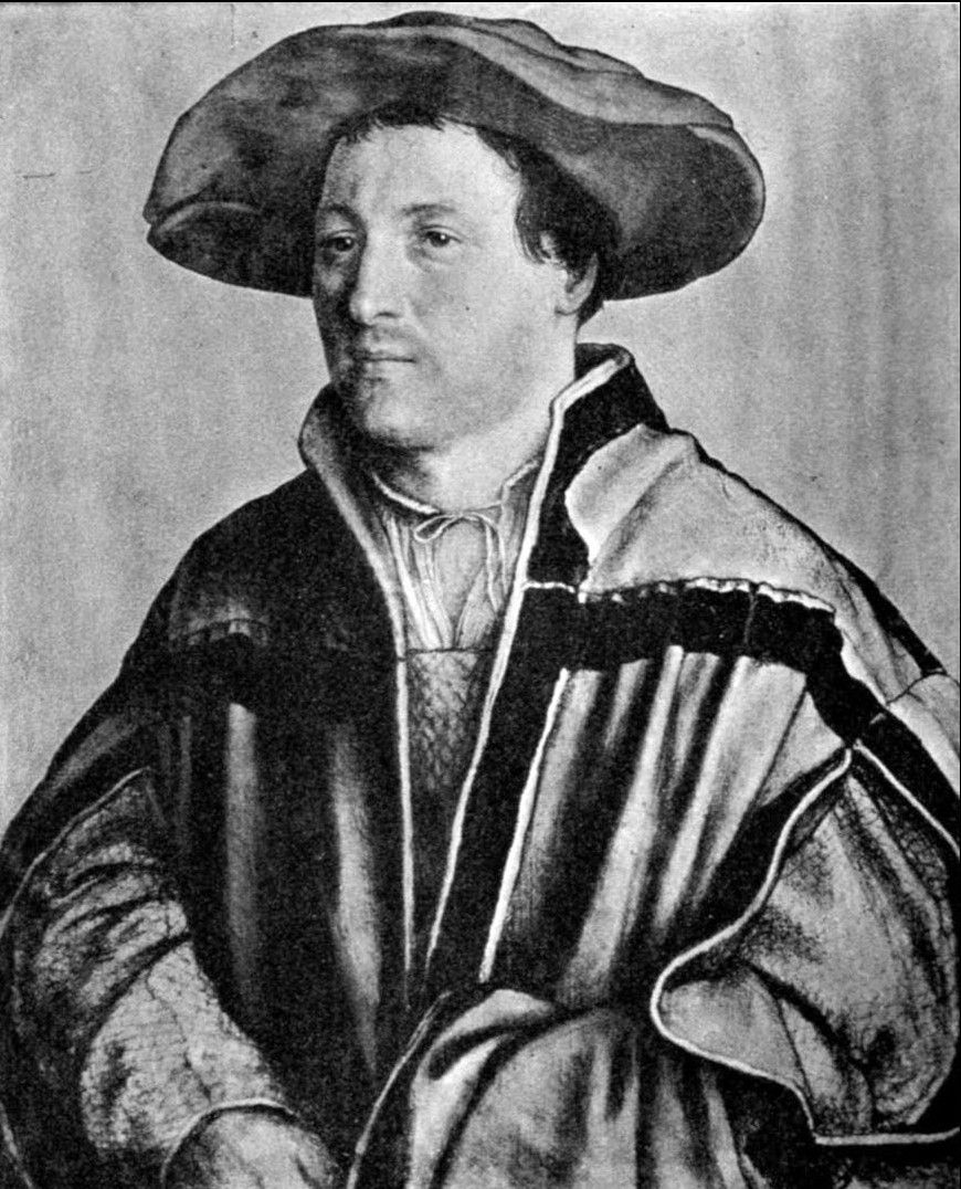 Portrait of a Man by Hans Holbein the Younger (1497-1543)
