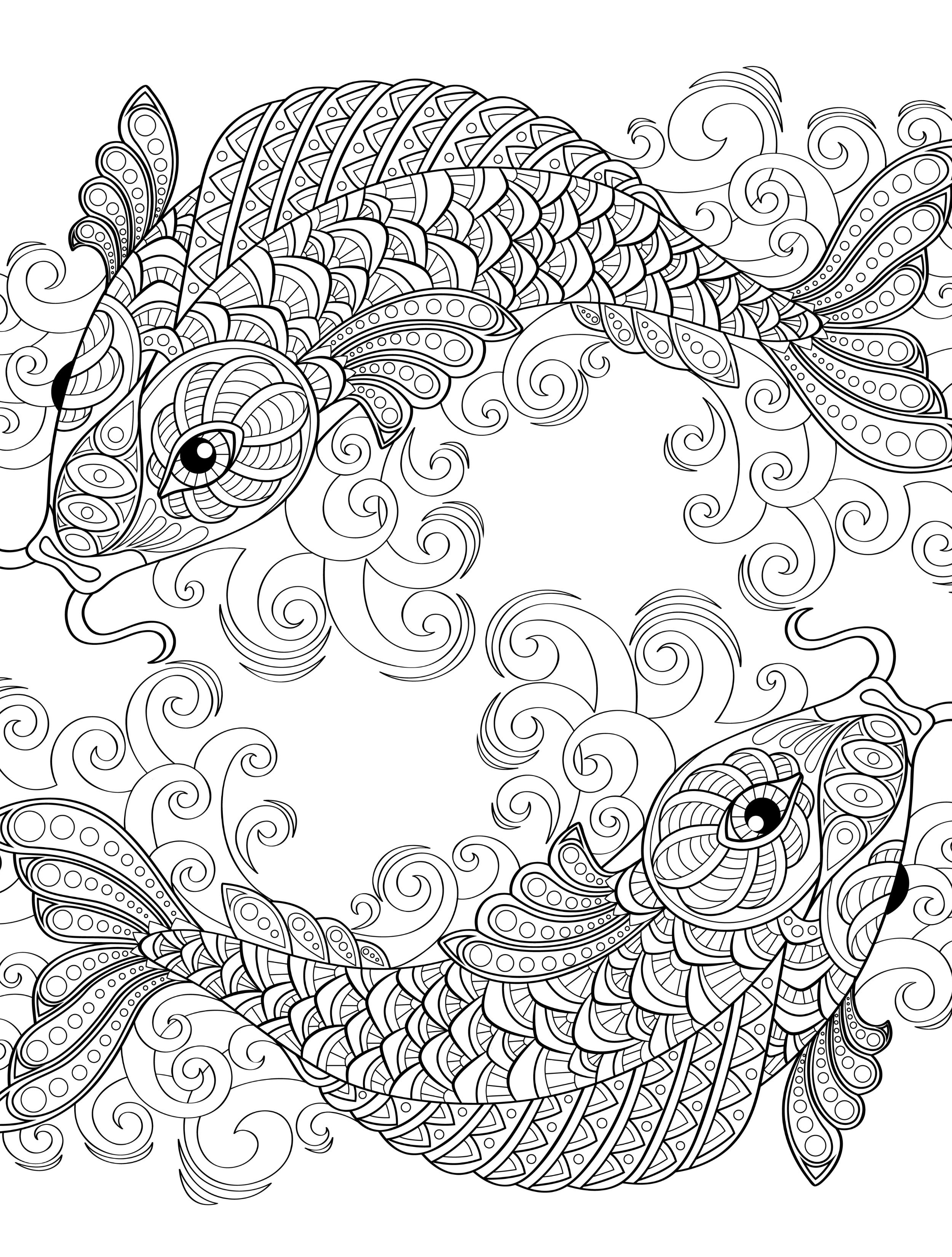 18 Absurdly Whimsical Adult Coloring Pages (With images ... | cool coloring pages for adults printable