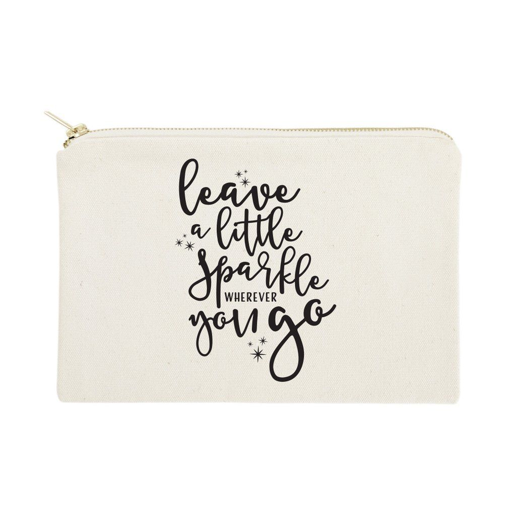 Leave a Little Sparkle Wherever You Go Cotton Canvas