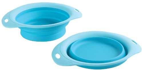 $6.99-$12.99 Consider your cabinet cluttered no more! These pet bowls are perfect for travel or storage, as they collapse to less than 0.75 inches thick. Available in three sizes, these bowls fit the needs of any dog or cat -- whether at home or on the go. To clean, simply collapse the bowl and slide it in the dishwasher!