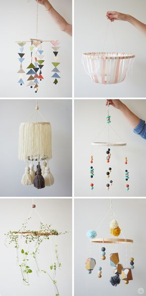 How Cute Are These Diy Baby Mobiles If You Re Planning Or Decorating A Modern Nursery For On The Way This Is One Easy Idea Ve Got To Include
