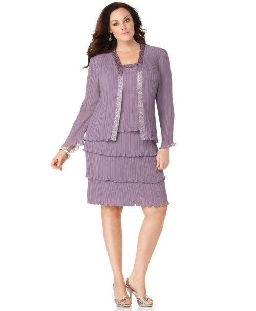 105 Patra Plus Dress Long Sleeve Tiered Skirt Evening Adult