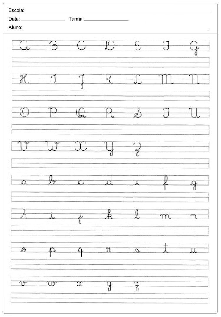 Alfabeto Pontilhado Caligrafia Do Alfabeto Atividades De Caligrafia