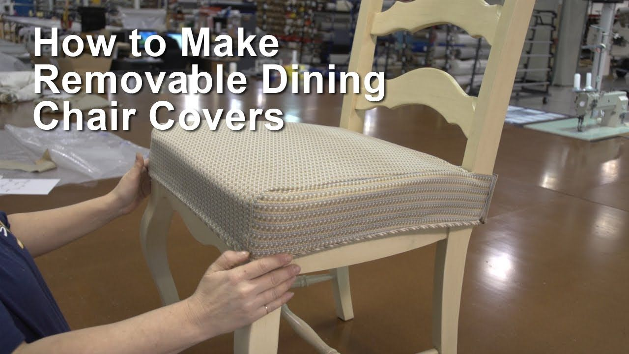 How To Make Removable Dining Chair Covers Pinteres