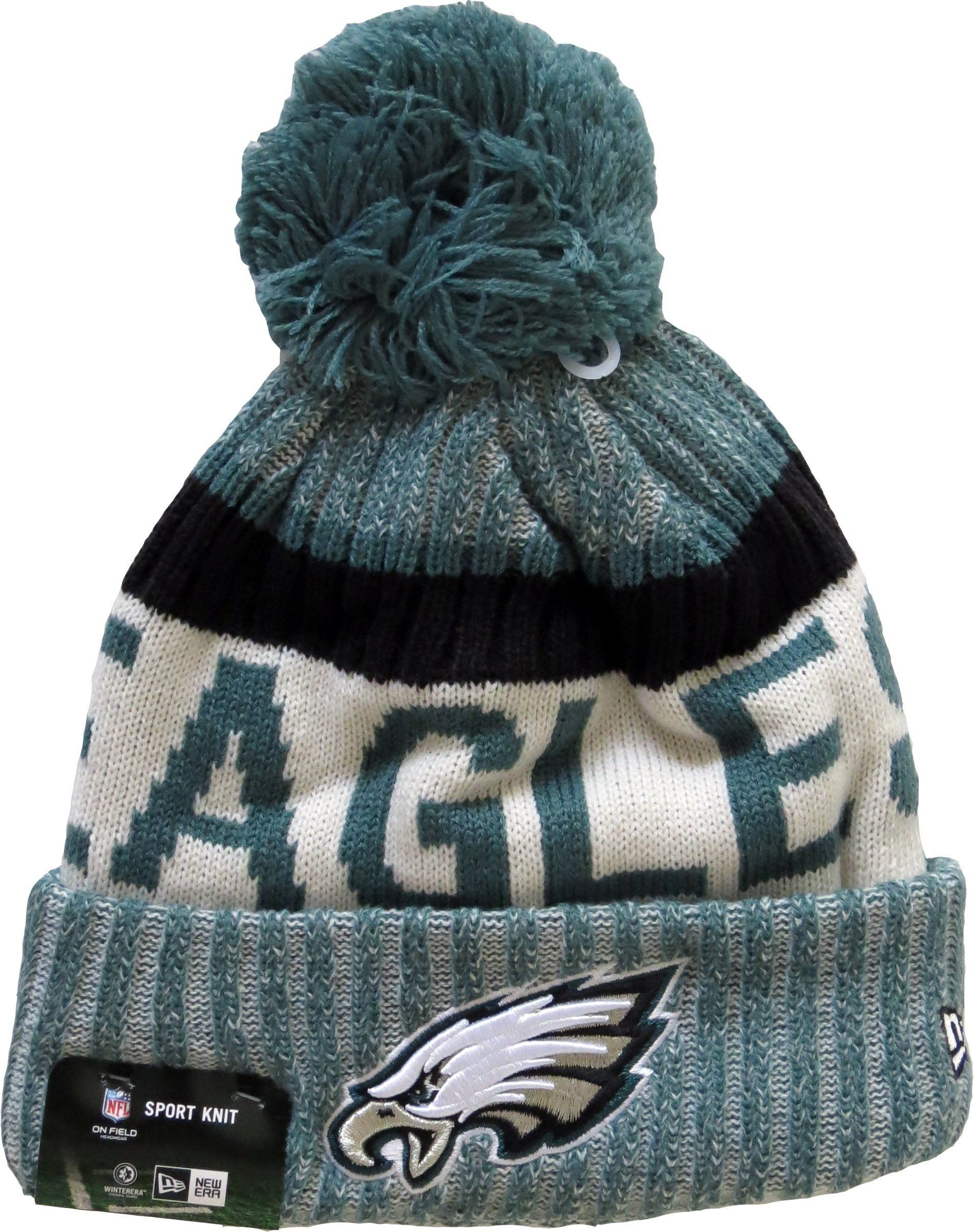 ... netherlands phialdelphia eagles new era nfl 2017 on field sport knit  bobble hat. team colours 6e7c300f5
