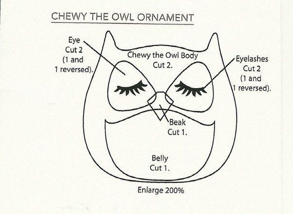 Creative Ideas - DIY Cute Fabric Owl Ornaments with Free Pattern ...