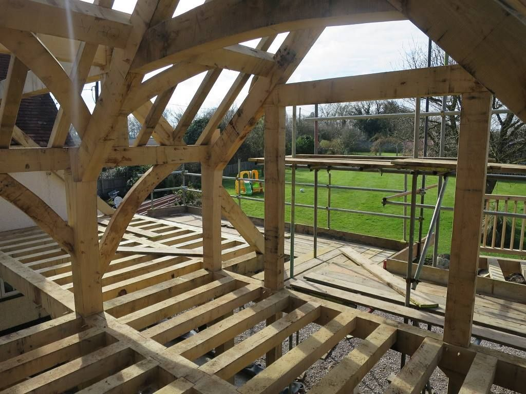Extension #timberframe by Castle Ring Oak Frame | Barcos | Pinterest