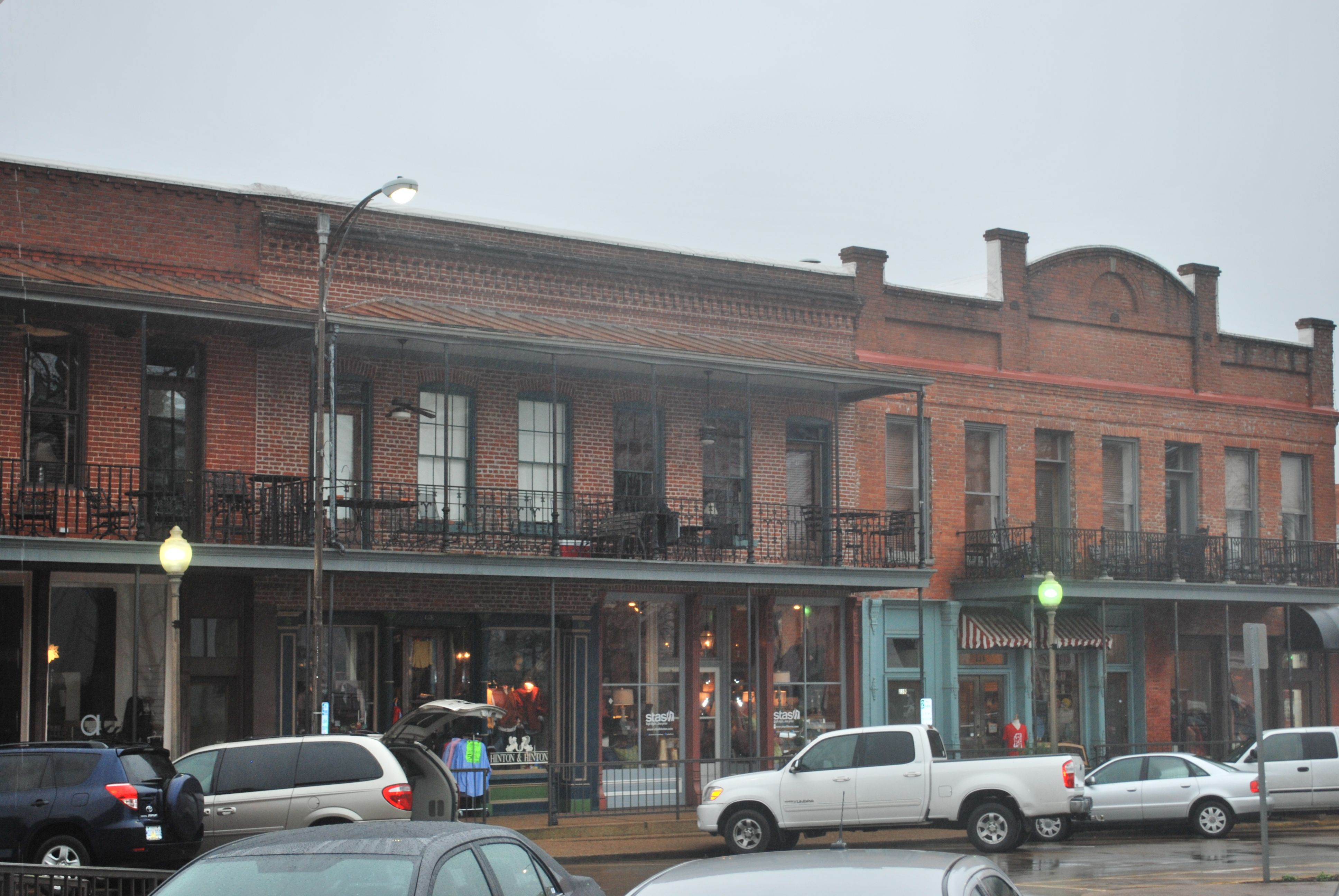 Downtown in oxford mississippi interesting architecture