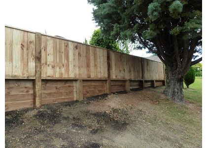 Timber Retaining Walls Auckland Timber Fencing Ideas North Shore Backyard Fences Fence Landscaping Easy Fence