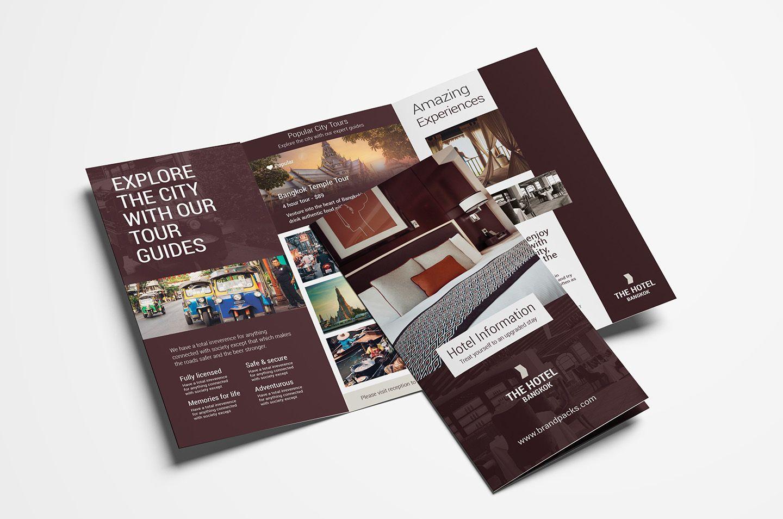 Hotel TriFold Brochure Template V2 Psd, Ai & Vector