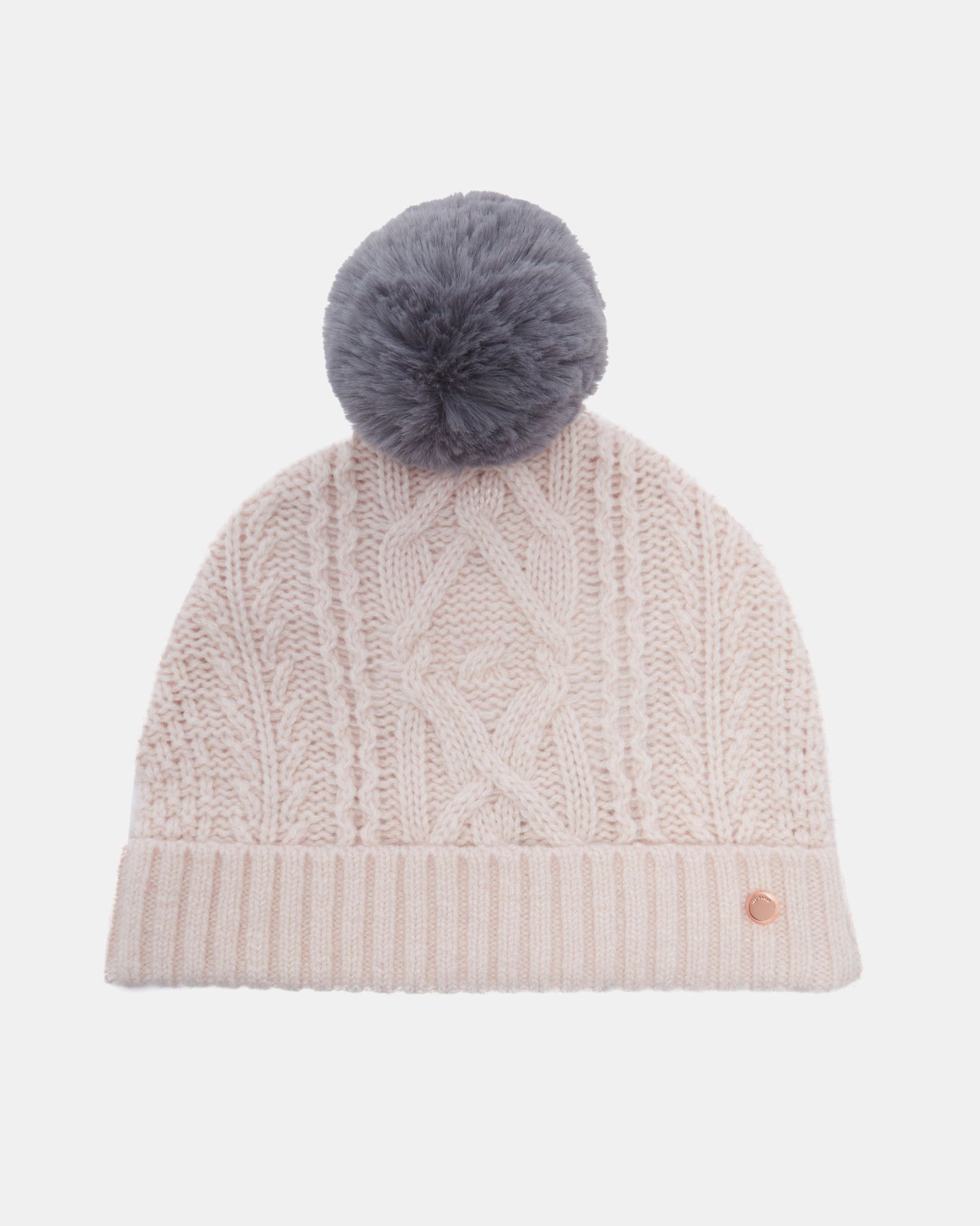 3a09dff21 Ted Baker Cable knit wool-blend bobble hat | Products | Hats, Bobble ...