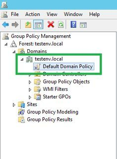 Setting default domain password policy