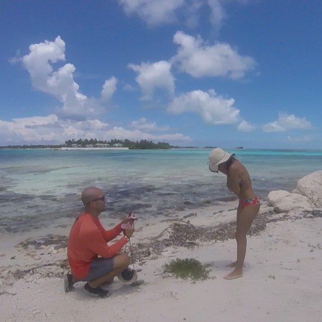 Dayron And Melissa From Miami, Florida Share Their Beach