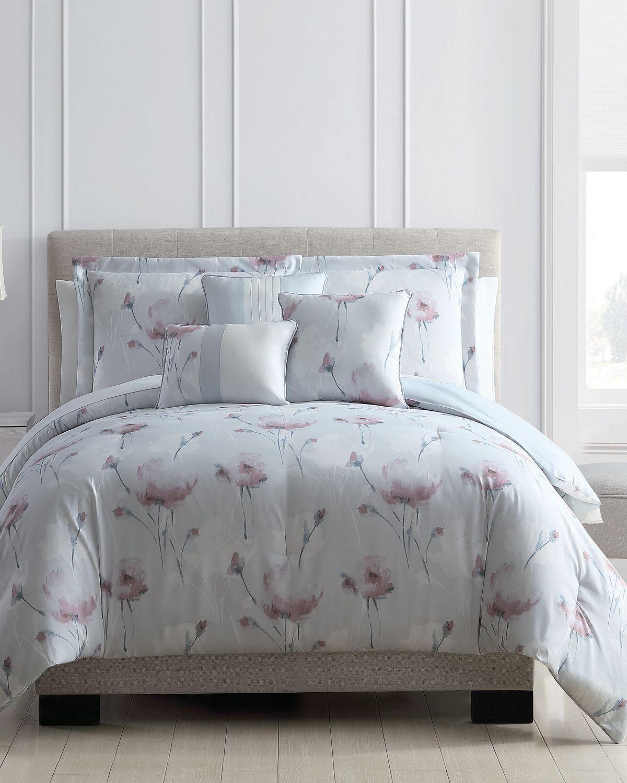Paisley Duvet Bedding Quilt Cover /& Pillowcase Set Single Double King Grey Coral