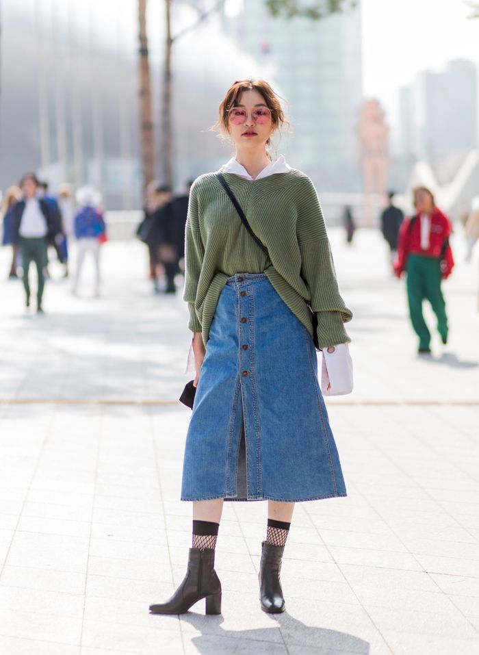 style Seoul Street Style 2017 , Great way of mixing different seasons into  one outfit