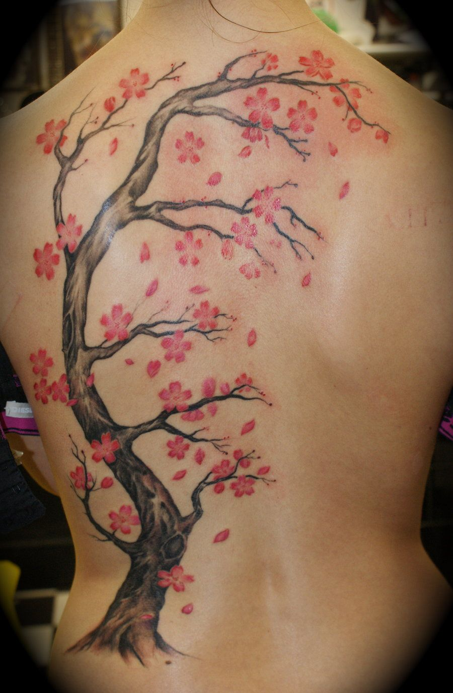 Weeping Cherry Blossom Tree Tattoo Cherry Blossom Backpiece By