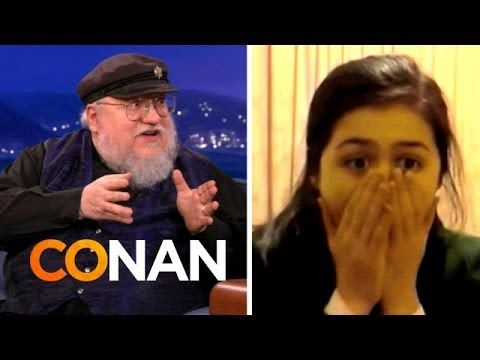 George R Martin Watches Red Wedding Reaction Videos Conan On Tbs You