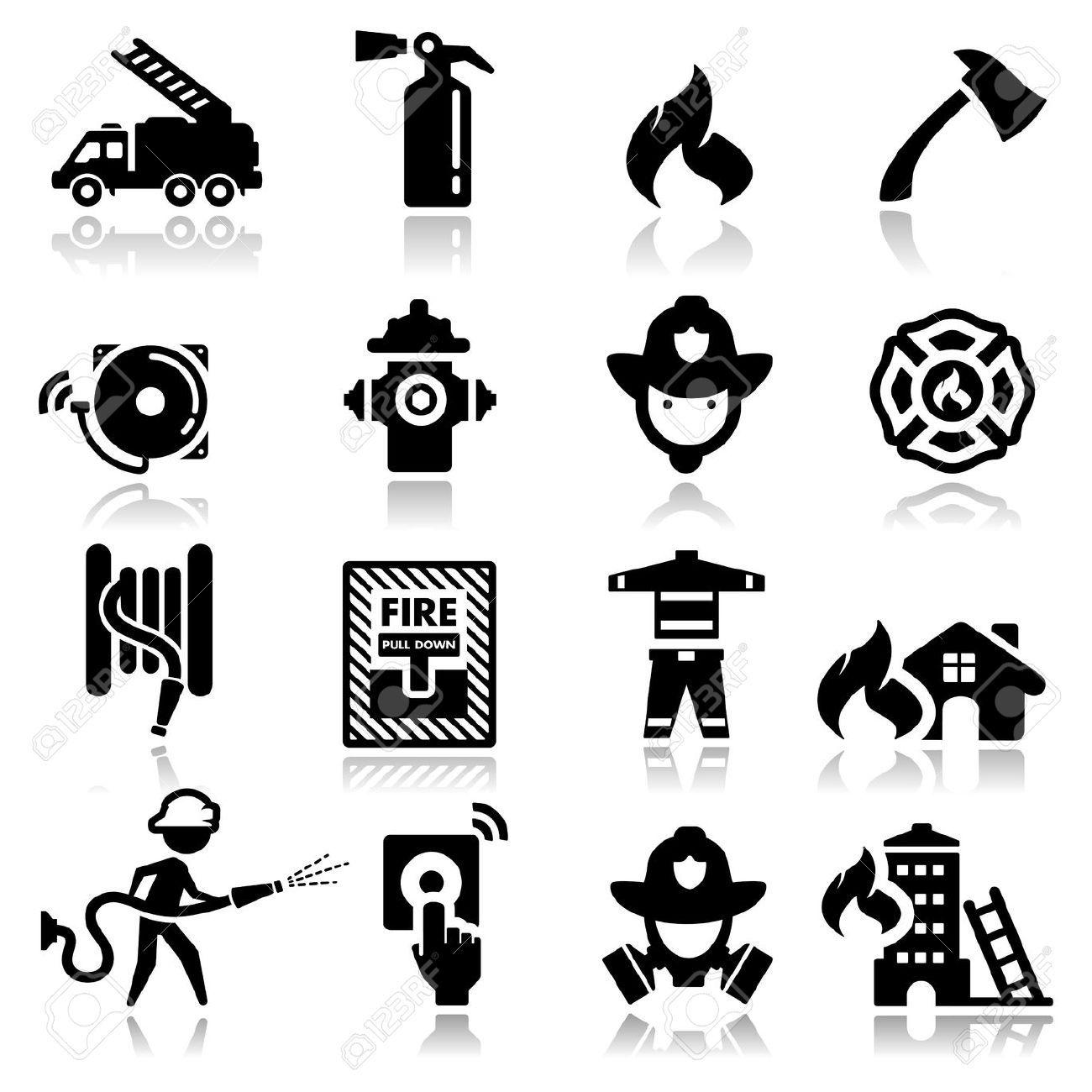 Fire Service Icon Vector