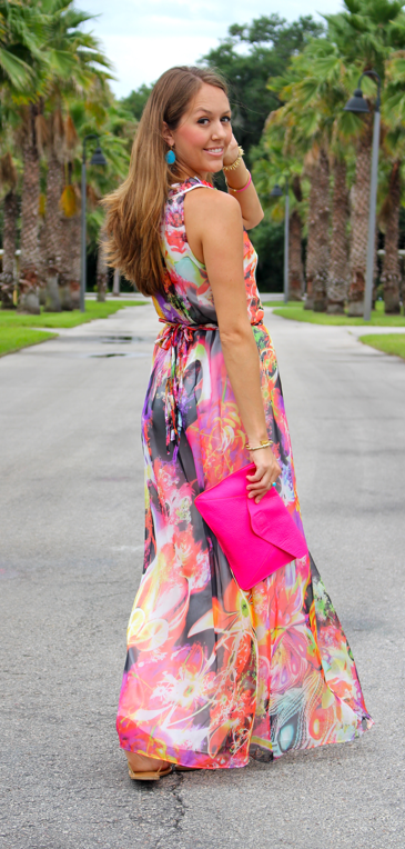 Fl Maxi Dress For A Beach Wedding